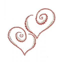 Стикер декоративный автомобильный (сердечки)