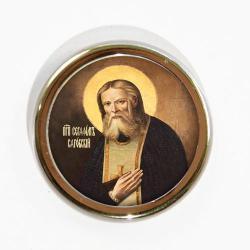 Икона для авто Серафим Саровский, 40 мм